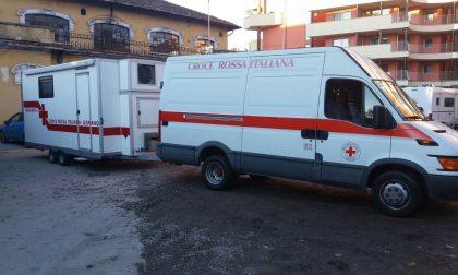 L'ambulatorio mobile della Cri di Legnano a Sarnano