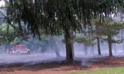 Legnano, Pasqua con principio di incendio nel parco per la grigliata