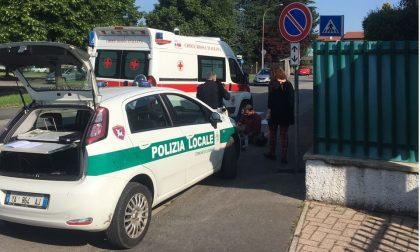 Legnano, incidente in via Podgora: centauro all'ospedale