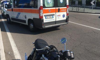 San Vittore Olona, schianto tra moto e pullman: paura sul Sempione