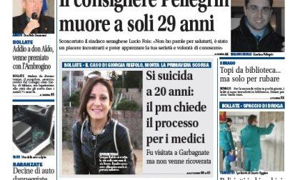 Settegiorni Bollate è in edicola, in primo piano la morte a 29 anni del consigliere di Senago