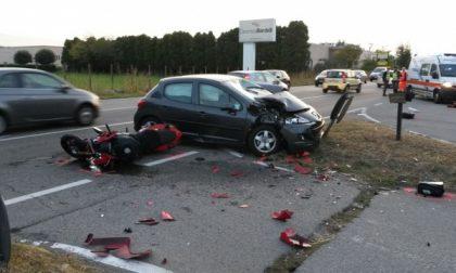 Vittuone, centauro muore dopo scontro auto-moto sulla Statale 11