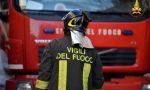 Incendio in un box di un'abitazione privata di Rescaldina