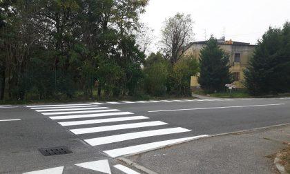 Strisce pedonali realizzate davanti all'Hana-wa