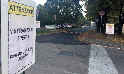 Cantiere chiuso in via Prampolini
