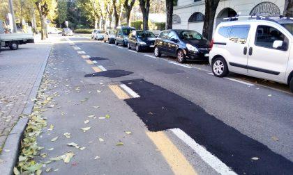 Strade asfaltate a Saronno ci pensa il cassonetto termico