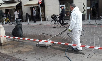 Nuovo macchinario per pulire il centro storico