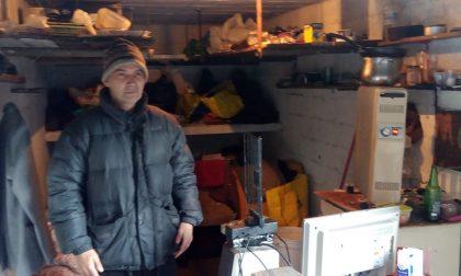Vive in un garage, la triste storia del bollatese Furio Borghi
