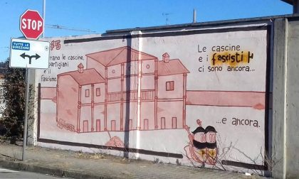 Imbrattato murales antifascista ad Arconate
