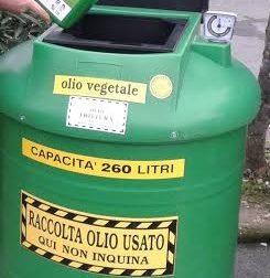 Da gennaio l'olio alimentare usato si raccoglie nei supermercati