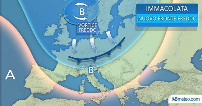 Maltempo nel Ponte dell'Immacolata: da giovedì torna la neve al Nord