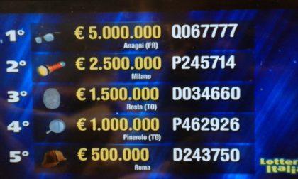 Venduto a Milano il secondo premio della Lotteria Italia