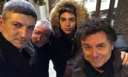 Franco Fasano a Saronno per incontrare l'amico Silighini