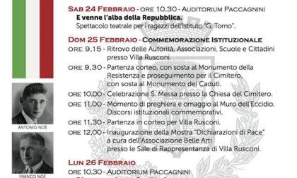 Tre Martiri Castanesi: quattro giorni di commemorazioni