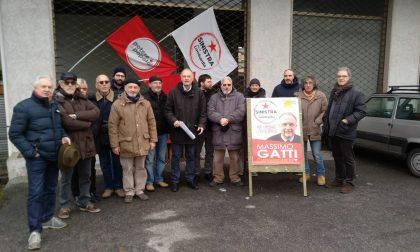 Massimo Gatti (Sinistra per la Lombardia) visita il bene confiscato