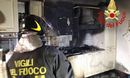 Appartamento in fiamme a Lomazzo