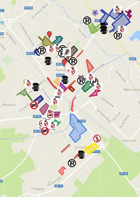 Parabiago, mappa controllo vicinato