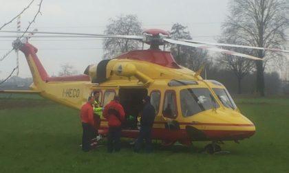 Brutto incidente sulla Sp224, donna elitrasportata in ospedale VIDEO