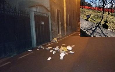 Notte di vandalismi in paese