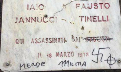 Sfregiata targa dedicata a Fausto Tinelli e Iaio Iannucci