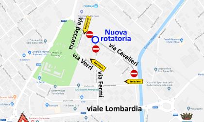 Nuova rotatoria a Parabiago: deviazioni del traffico