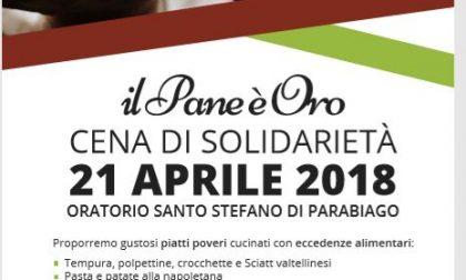 Cena di solidarietà all'oratorio di Parabiago