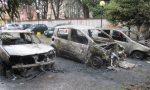 Tre auto a fuoco all'alba a Garbagnate