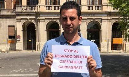 "Ex ospedale di Garbagnate: ""Stop al degrado"". Sit-in del M5S"