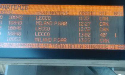 Guasto a Greco Pirelli: treni della Lecco-Carnate-Milano in ritardo