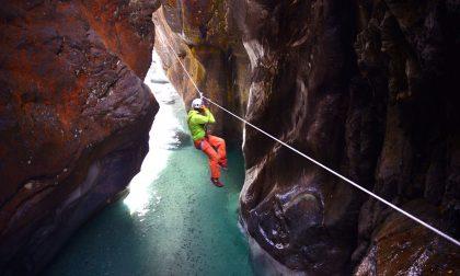 Sospesi alle corde nelle gole di roccia: in Valtellina si può GALLERY