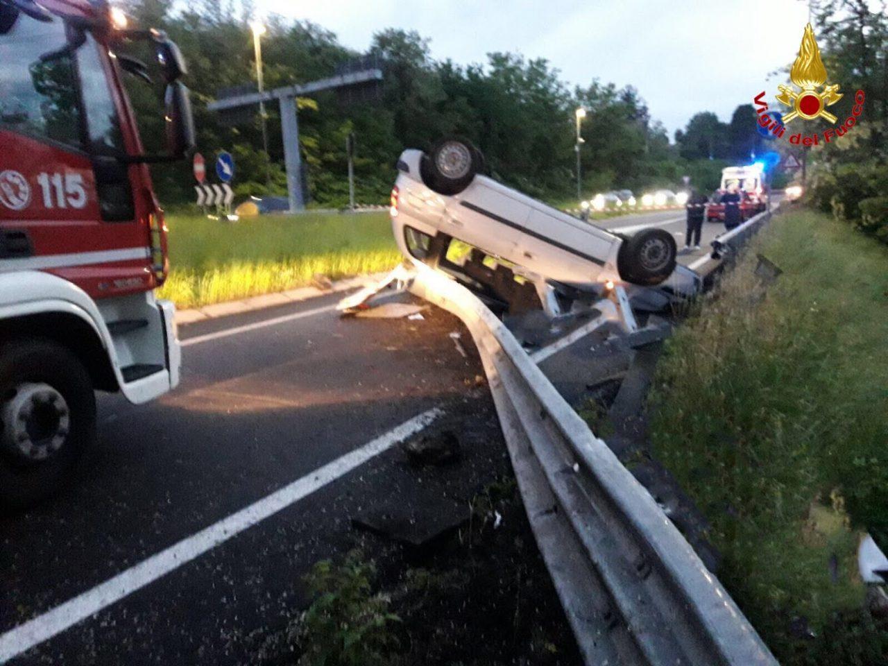 schianto in autostrada