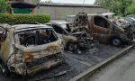 Due auto e un furgone a fuoco a Bareggio