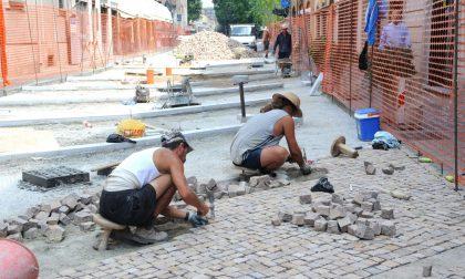 Ripristino della pavimentazione in porfido: ecco le modifiche alla viabilità