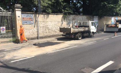 Altro cedimento stradale, stavolta in via Palestro