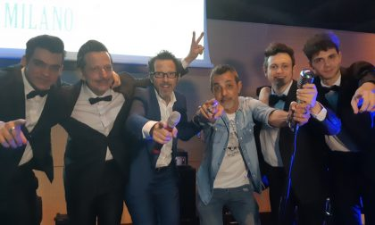 Dan e i suoi fratelli sul palco con Il Milanese Imbruttito FOTO e VIDEO