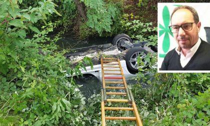 Tragedia a Rosate, auto nel fosso: muore il leghista Italo Baietta