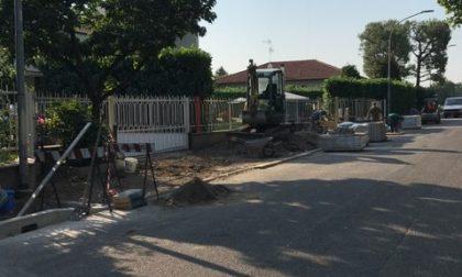 Lavori stradali, terminata una nuova tranche a San Vittore Olona