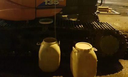 Vigili sventano furto di gasolio, ladri in fuga