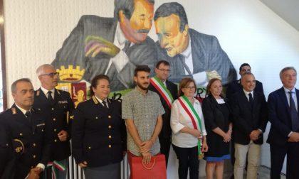 Falcone Borsellino, inaugurato un murale in Commissariato
