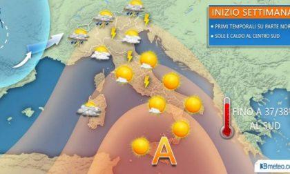 Tornano i temporali al nord caldo africano al sud   PREVISIONI METEO