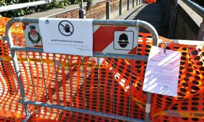 Ponte sul Villoresi a Busto Garolfo chiuso: attesa per l'esito delle verifiche