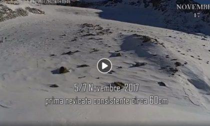 Un anno di sofferenza per il ghiacciaio, il VIDEO è da brivido