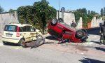 Grave incidente a Bollate: auto ribaltata