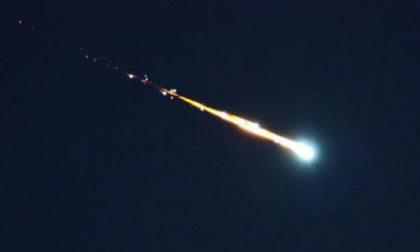 Meteorite infuocato nei cieli di sabato