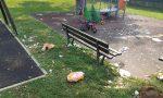 Notte brava al parco, al mattino restano rifiuti e bottiglie di birra