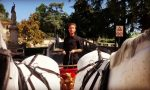Il comico Angelo Pintus a Cassinetta… a bordo di una biga. VIDEO