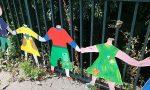 Decapitate sagome dei bimbi sul Ponte della pace LE FOTO