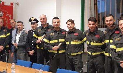 Incendio via Matteotti, S.Vittore ha premiato i suoi eroi FOTO