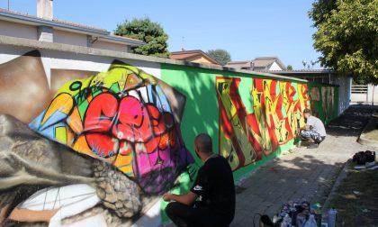 Un murales ad Arconate per andare oltre i muri