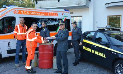 Gasolio e benzina confiscati e donati alla SOS Malnate
